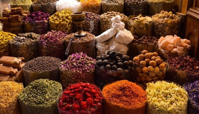 a spice market in morocco