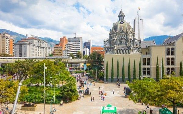 Botero square in Medellin, Colombia