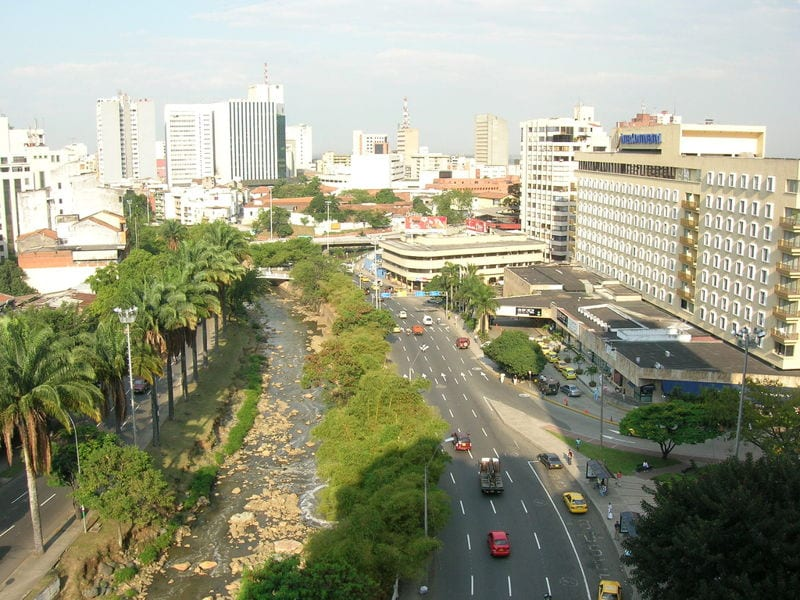 View across the city of Cali, Colombia