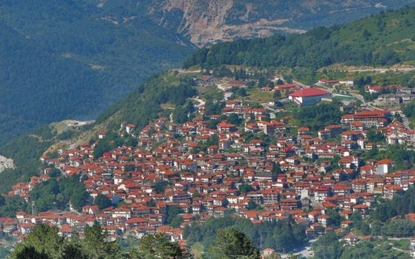 Metsovo mountain town in Greece