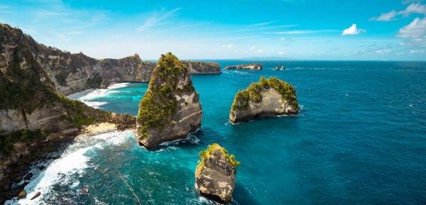 Rocky coast of Bali