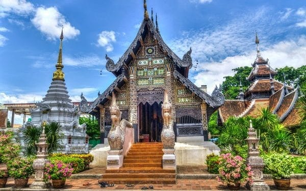Chiang Mai temple in Thailand