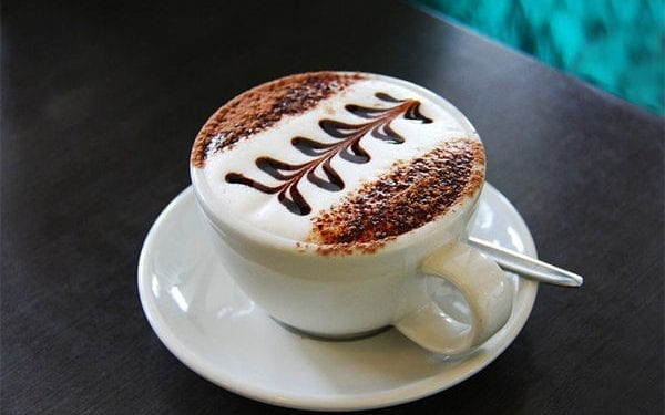 cup of coffee with artistic presentation