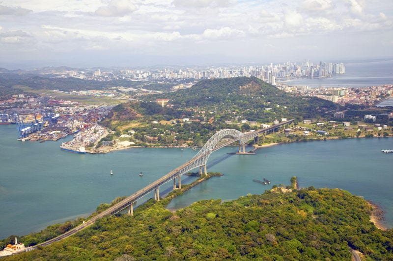 Panama City view from the sky