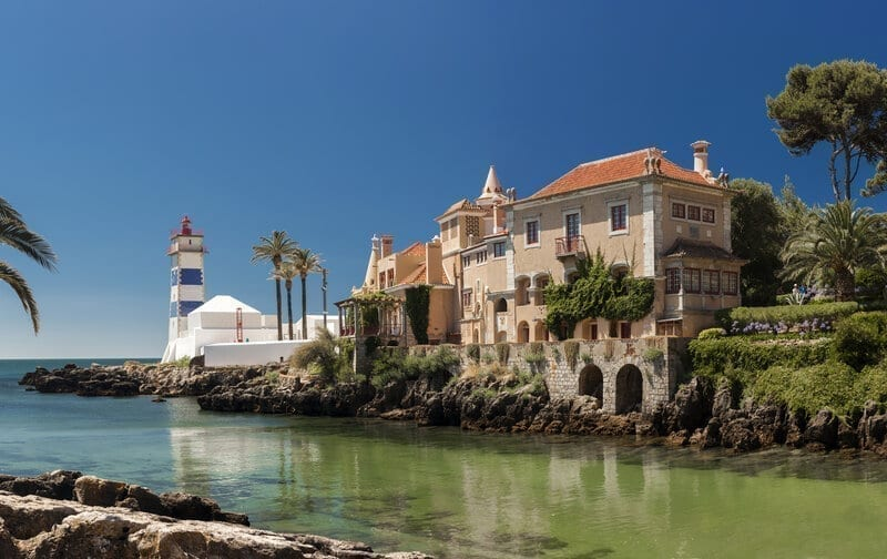 Santa Marta lighthouse and Municipal museum of Cascais, in Portugal