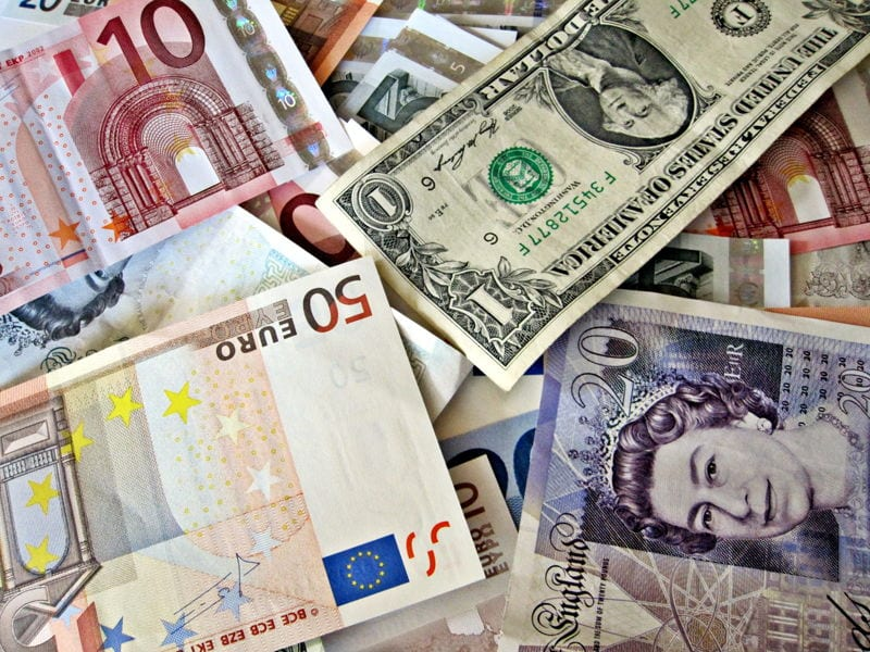 different currencies cash paper money