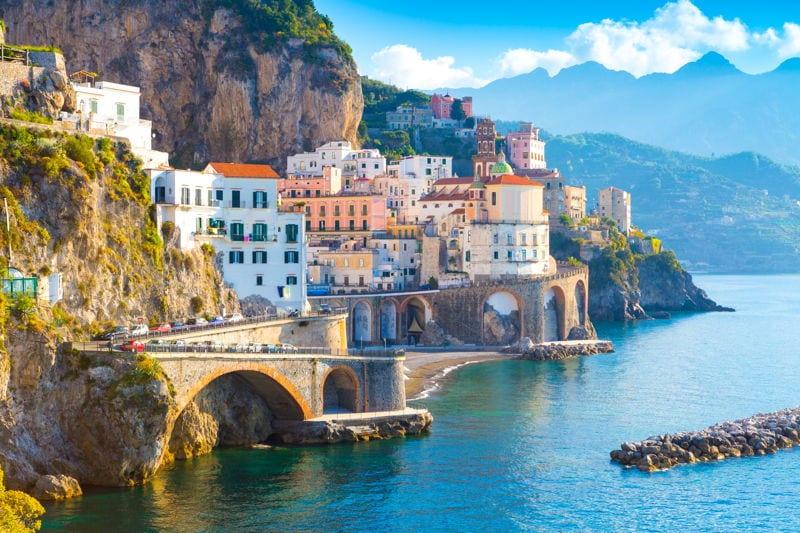 Mediterranean coastal town in Italy