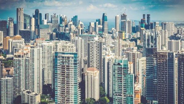 View across the city, Singapore