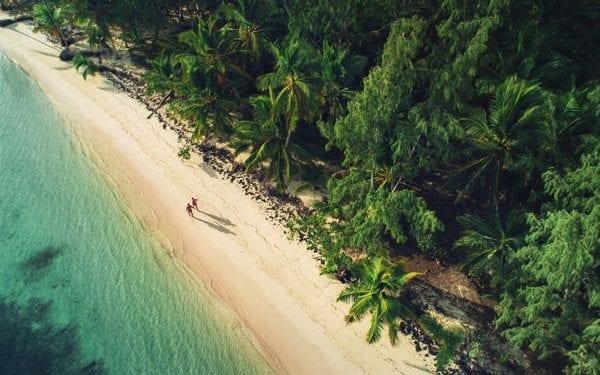 Walking an empty beach on Dominican Republic