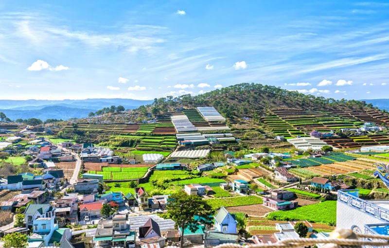 Panoramic view of Da Lat, Vietnam. Definitely one of the best places to retire in Vietnam