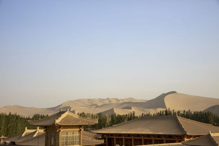 Sand dunes near Dunhuang, China