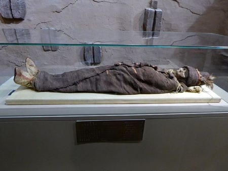 A mummy in the Xinjiang museum, China