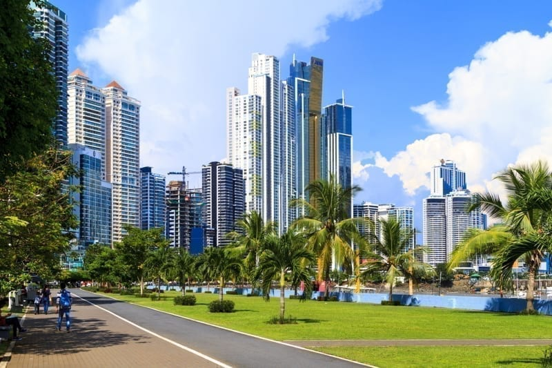 Skyscrapers in Panama City, Panama.