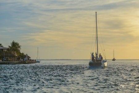 A sail boat in Belize