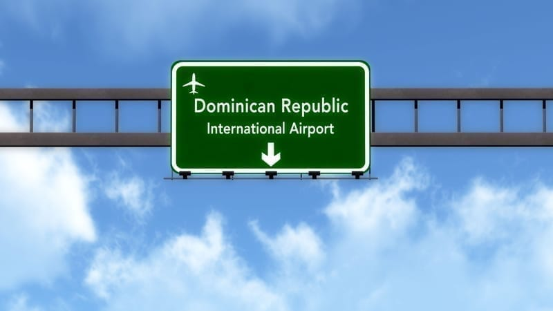 Dominican Republic Airport Highway Road Sign