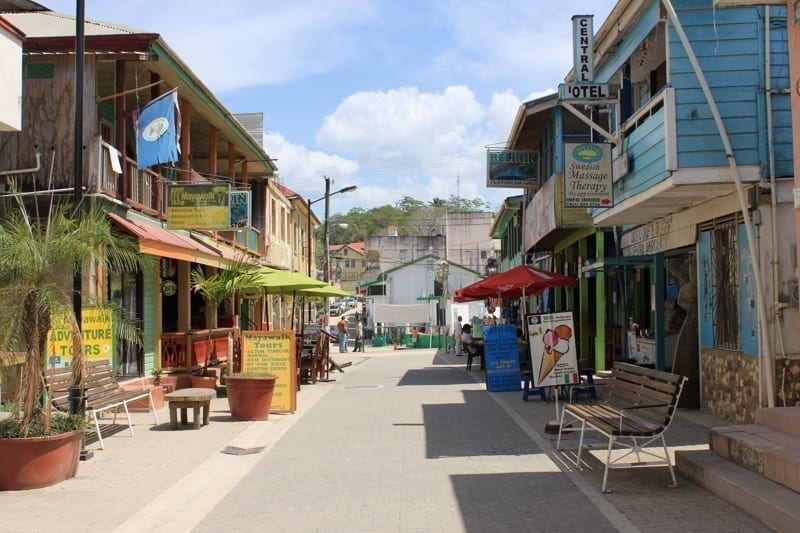 Burns Avenue in San Ignacio, Belize