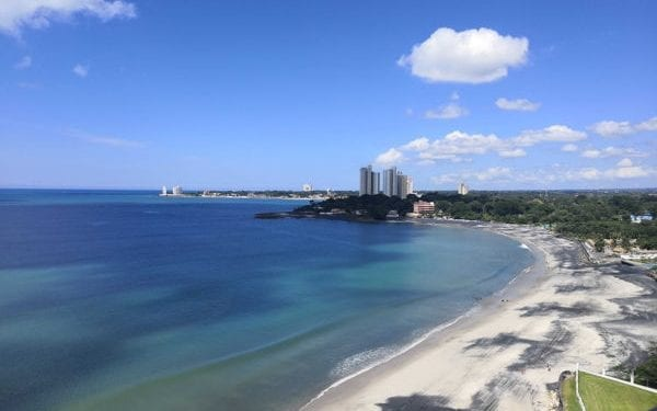 View of the beach at Coronado. The city beaches are Panama's top beach destination for retirement