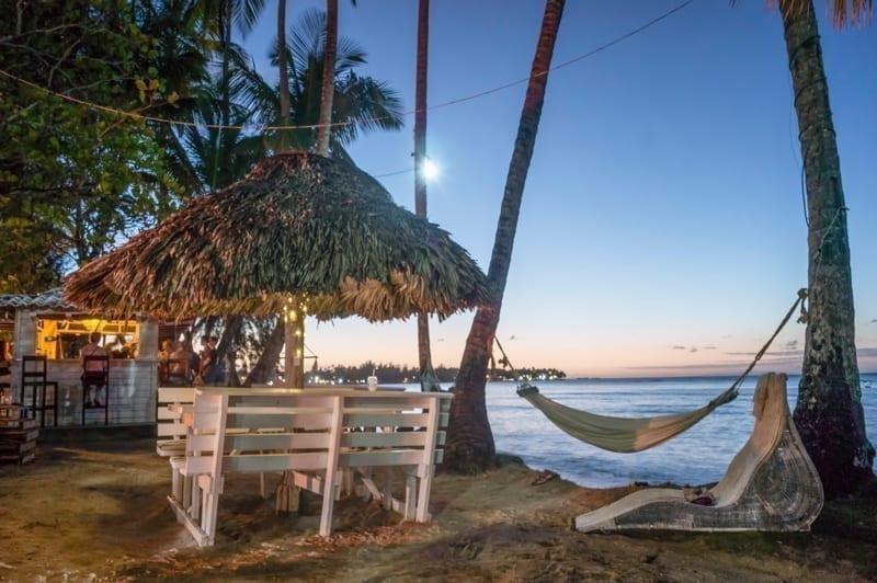 Beach Bar, sunset, hammack, Las Terrenas, Dominican Republic