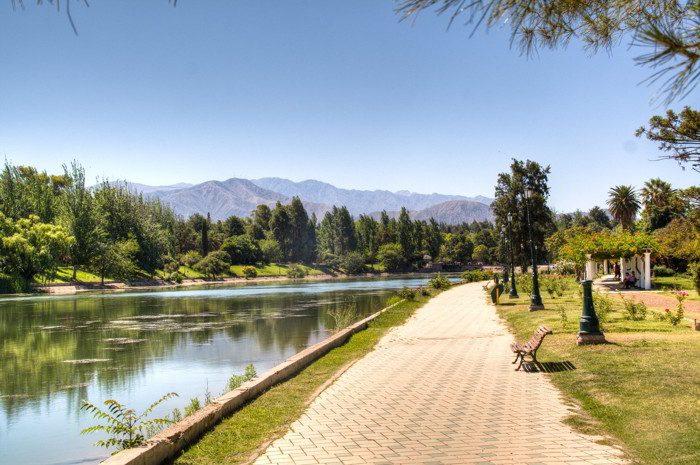 Walking path in Mendoza, Argentina