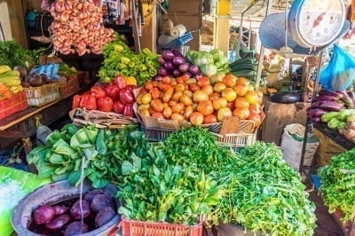 Vegetable stand in the Dominican Republic.