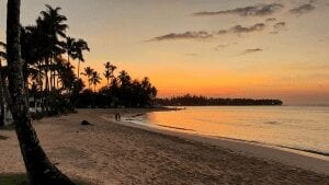 las terrenas beach sunset