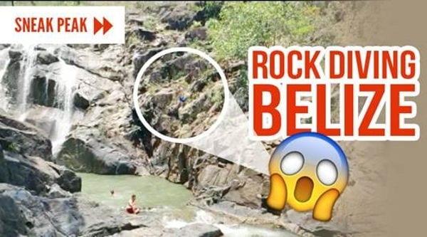 rock diving in belize