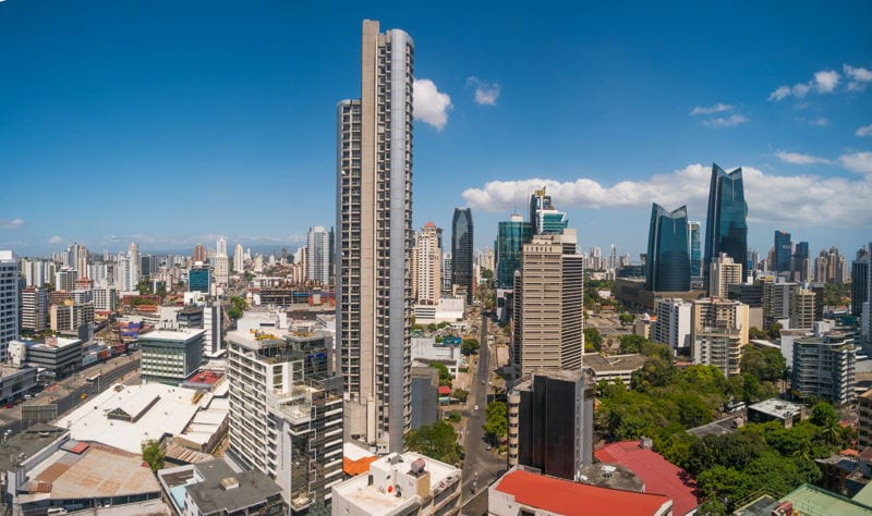 Panama City financial district