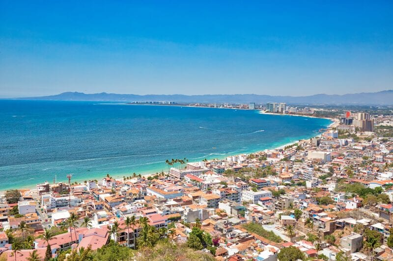 Puerto Vallarta in Mexico beach and town