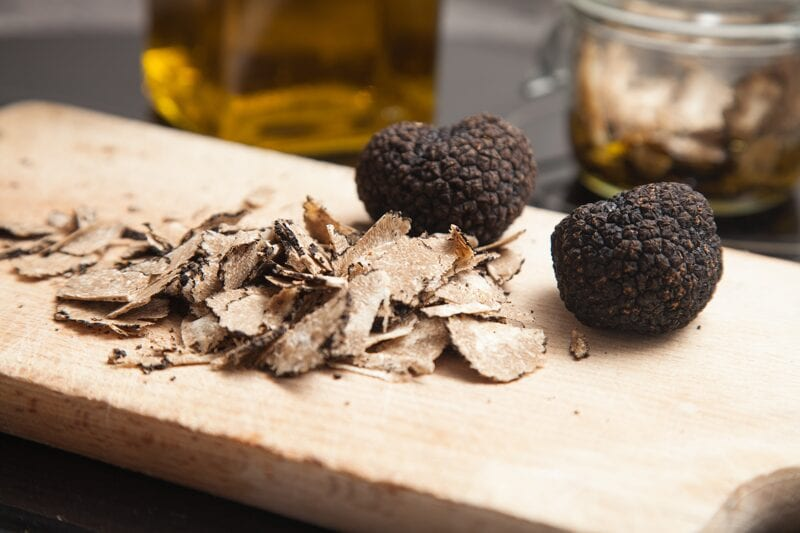 Truffles on a wooden board investment option
