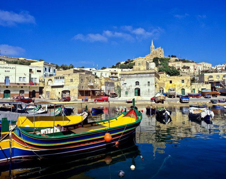 A boat in Gozo, Malta