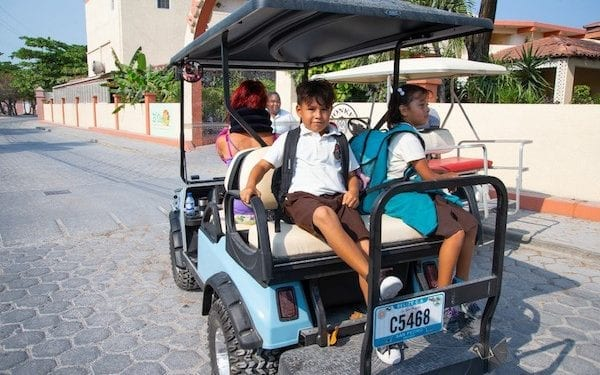 golf kart in belize