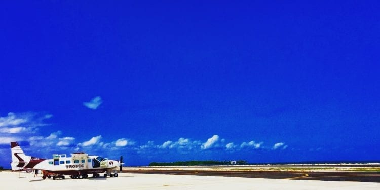 small plane in belize