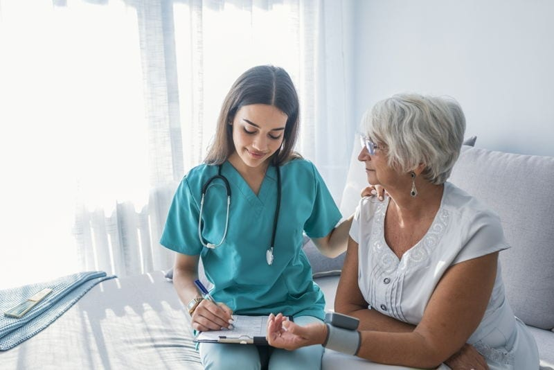 retiree receiving health care in Portugal