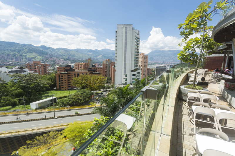 view from medellin balcony