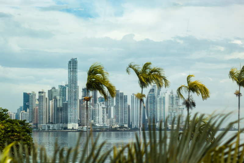 panama city seafront panorama