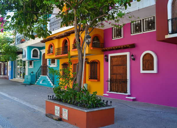 colorful houses mexico