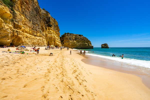 lagoa beach on algarve coast of portugal