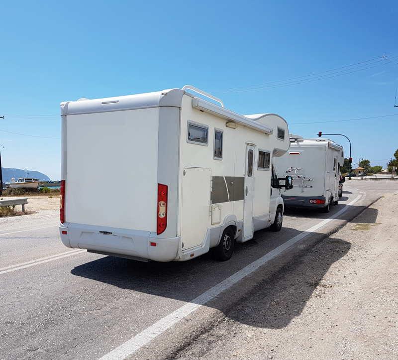 caravans driving together