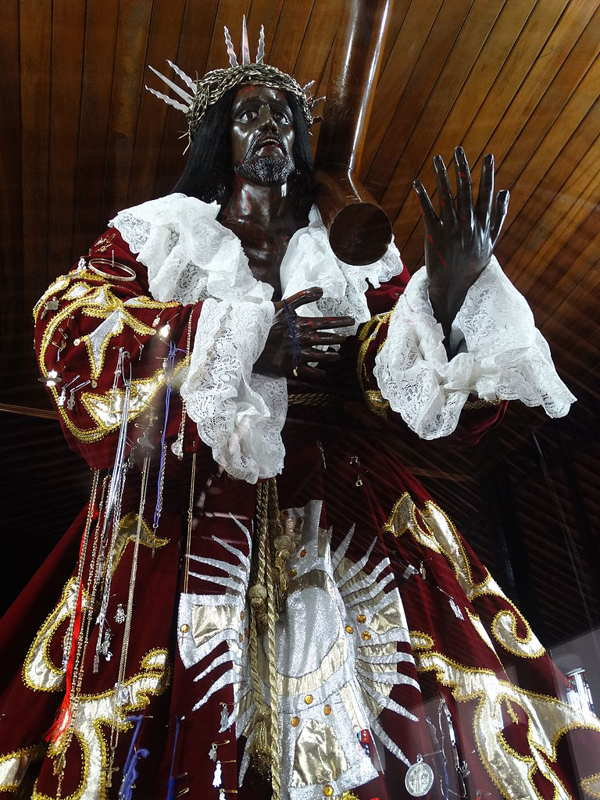 statue of cristo negro the black christ panama