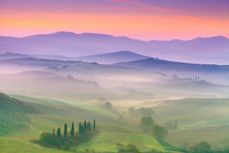 San Quirico D'Orcia, Tuscany landscape, Italy