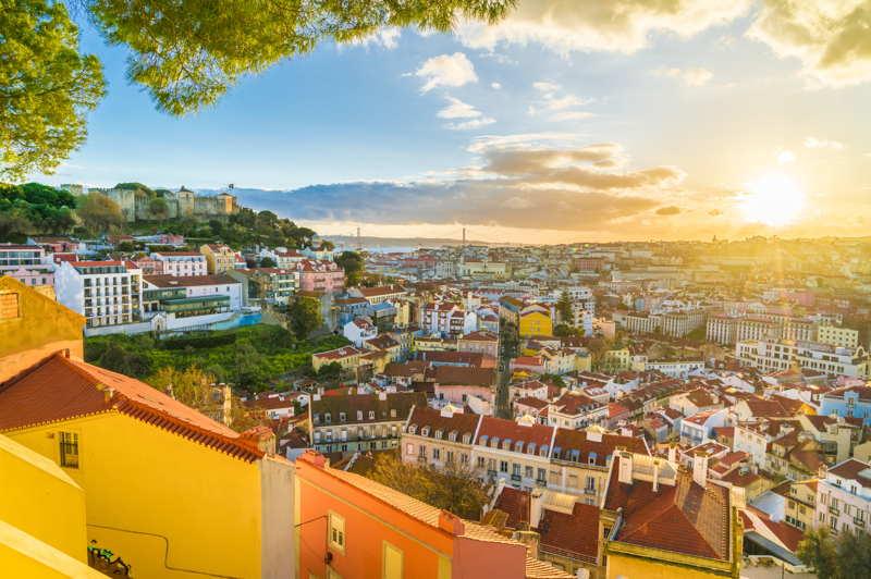 Lisbon at sunset