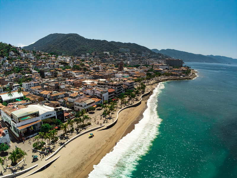 Puerto Vallarta beach town Mexico
