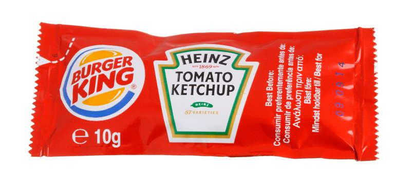 burger king ketchup packet