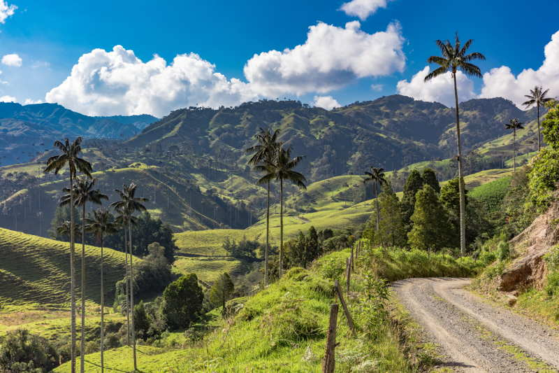 colombia countryside beautiful day