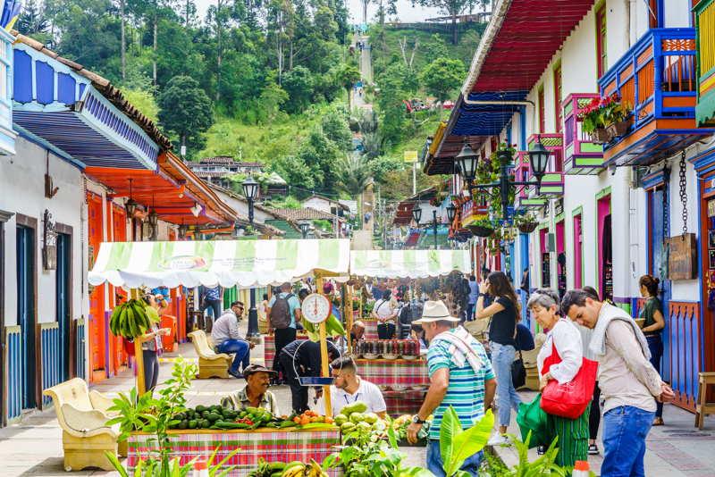 street market in colombia