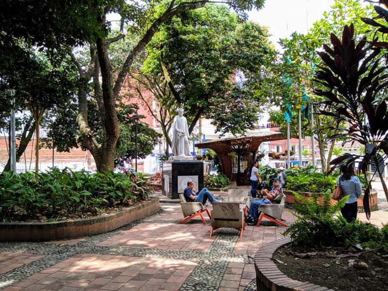 Park in Sabaneta, Medellin, Colombia