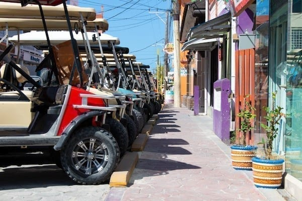 golf carts in san pedro belize