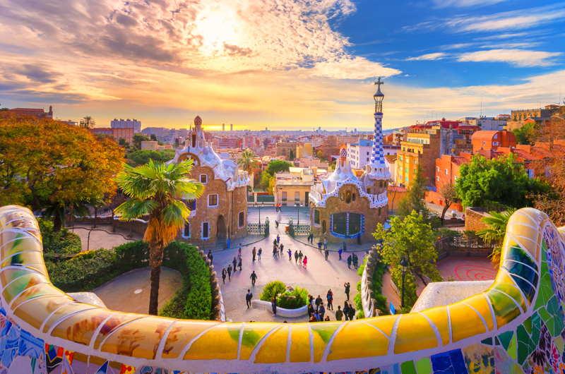 Barcelona view across the city