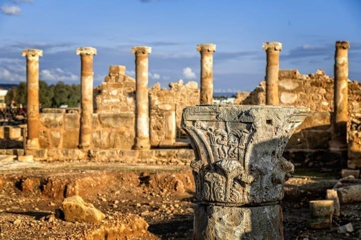 Roman villa ruins at Cyprus