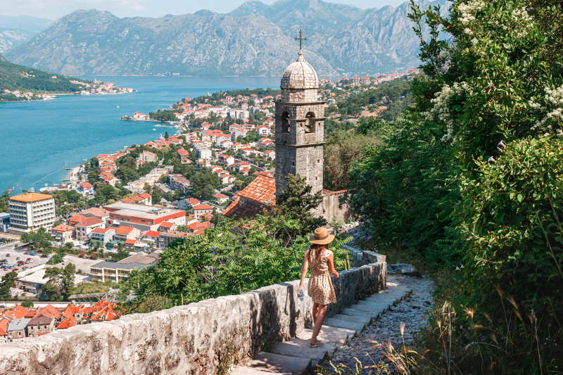 kotor in montenegro view of valley and town